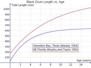 Fish measurement - Image: Black Drum Length vs. Age