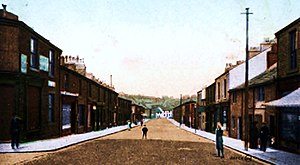 Great Harwood - View of Blackburn Road, Great Harwood, circa 1910.
