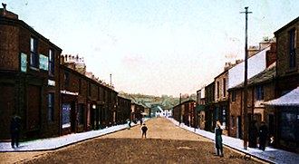 Great Harwood - View of Blackburn Road, Great Harwood, circa 1910.