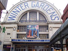 The Winter Gardens, as viewed from the west