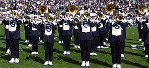 Blue Band - The Blue Band during a halftime performance in Beaver Stadium.