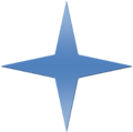 Blue Gradient 4 Point Star.png