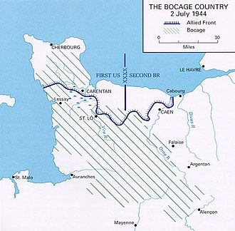 Bocage - Location of bocage (in the context of Operation Overlord)