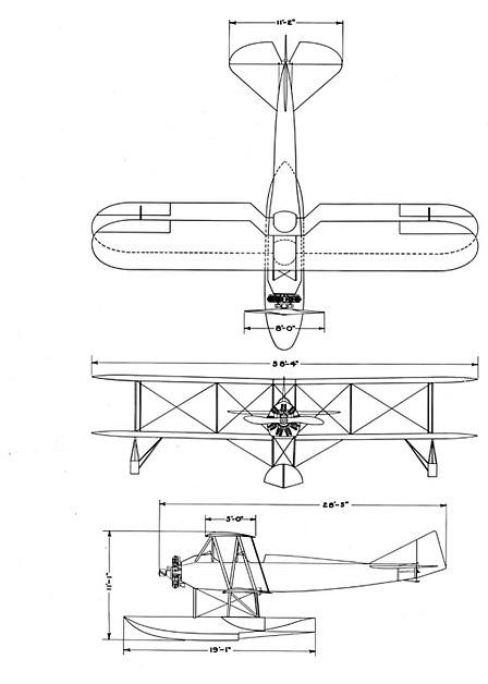 Boeing model 64 drawing