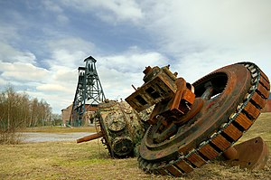 Major Mining Sites of Wallonia - Image: Bois du Cazier 2