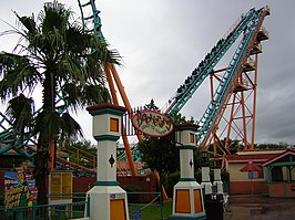 Boomerang roller coaster, Six Flags Fiesta Texas (2004).jpg