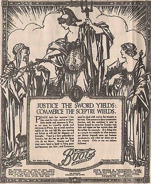 Boots UK - An advertisement for Boots from 1911