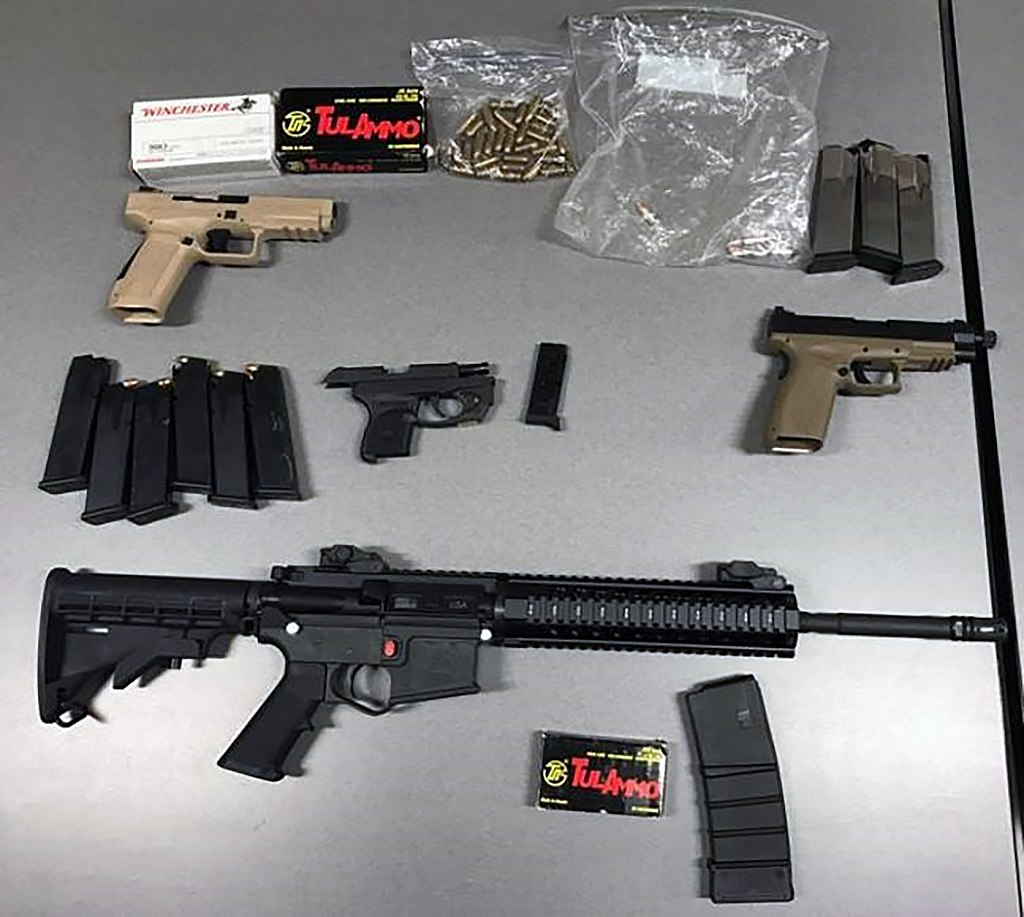 Border Patrol agents seize handguns, rifle, more than 200 rounds of ammo (33157615801).jpg