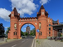 Gate of the former Borsig-Werke factory in Berlin Borsigwerke B-Tegel 07-2017 img2.jpg
