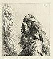 Borstbeeld van een oosterling met baard en tulband Diverse tronikens geets van J. L. (serietitel), RP-P-OB-12.554.jpg