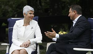 Croatian parliamentary election, 2011 - Jadranka Kosor and Borut Pahor developed a close political and personal relationship and were successful in solving the border dispute.
