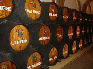 Brandy de Jerez - Casks of brandy de Jerez