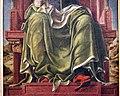 Bottega di cosmè tura, musa erato, 1450 ca., dallo studiolo di belfiore, 03.jpg