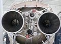 Bottom of First Stage of Titan IVB Rocket - LR87 rocket engine nozzles.jpg