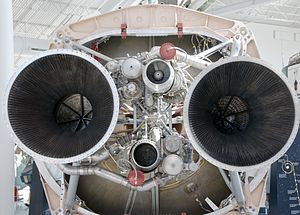 Titan IV - Bottom of first stage of Titan IVB rocket
