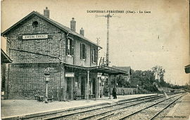 The railway station in Dompierre