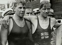 Boy Charlton and Arne Borg 1928.jpg