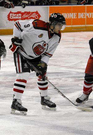 Greater Ontario Junior Hockey League - Brantford 99ers player during 2013-14 season.