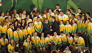 The Brazilian athletes at the 2007 Pan American Games.