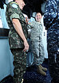 Brazilian military Gen. Floriano Peixoto, commander of United Nations Stabilization Mission in Haiti, visits USS Bataan (LHD 5) with U.S. Army Lt. Gen. P.K. Keen, deputy commander of U.S. Southern Command and 100311-N-HX866-025.jpg