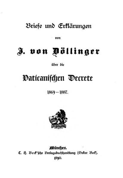 File:Briefe und Erklaerungen von J. von Doellinger.djvu