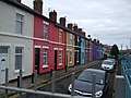 Brightly painted terrace - geograph.org.uk - 2081261.jpg