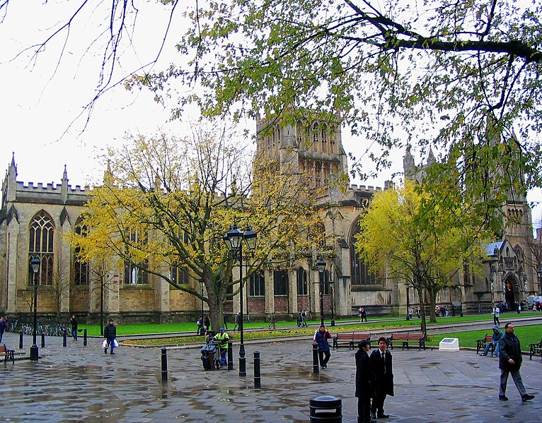 College Green and Bristol Cathedral.