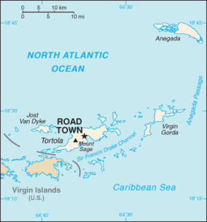 Rugby union in the British Virgin Islands - Map of British Virgin Islands