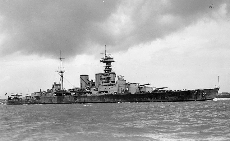 British Battlecruiser HMS Hood circa 1932