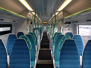 Thameslink and Great Northern - Interior of a cascaded Great Northern Class 387 train