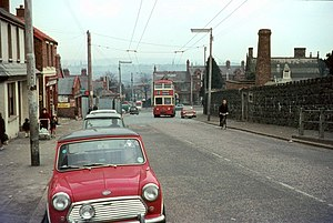 Falls Road, Belfast - Nearby Whiterock Road in 1968