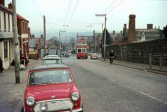 Falls Road, Belfast - Nearby Whiterock Road in 1968