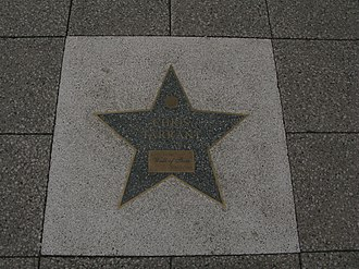 Chris Tarrant - Tarrant's star on Broad Street, awarded to him in 2010