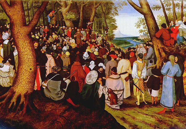 «Иоанн Креститель проповедует перед народом» (картина Питера Брейгеля Младшего)