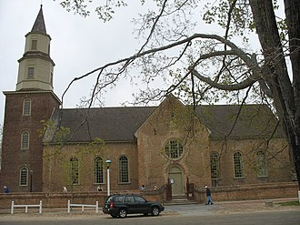 Bruton Parish Church - Bruton Parish Church today