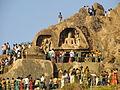 Buddist rock cut stupas.JPG