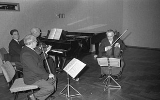 "Music theory - A Classical piano trio is a group that plays chamber music, including sonatas. The term ""piano trio"" also refers to works composed for such a group."