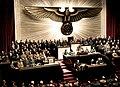 Bundesarchiv Bild 183-1987-0703-507, Berlin, Reichstagssitzung, Rede Adolf Hitler (color).jpg