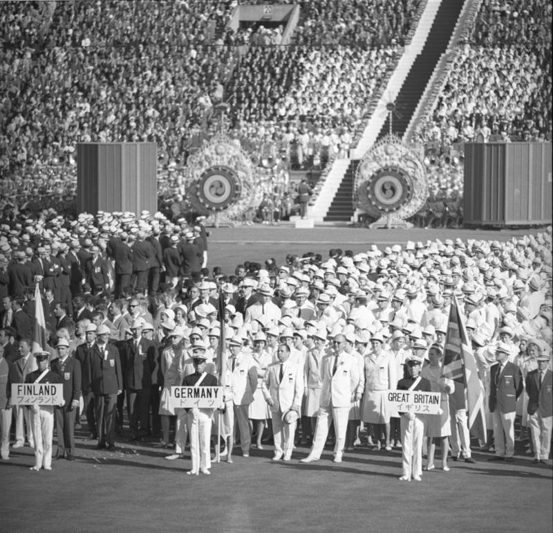 Bundesarchiv Bild 183-C1012-0001-026, Tokio, XVIII. Olympiade, Gesamtdeutsche Mannschaft