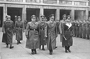 Karl Brandt - Brandt at right, following Hitler and Martin Bormann