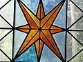 Buntglasfenster, Gotisches Haus, Wörlitzer Park, Wörlitz, Germany.JPG