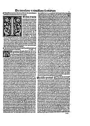 Walter Burley - De intensione et remissione formarum, 1496