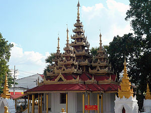Pyatthat - An example of a pyathat-roofed building at Wat Srichum in Lampang, Thailand