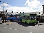 Buses at Cowes Co-op during Cowes Week 2011.JPG