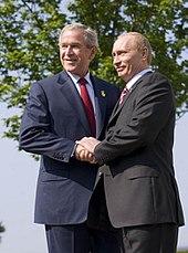 U.S. President George W. Bush and Putin at the 33rd G8 summit, June 2007