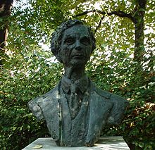 Bust of Bertrand Russell in Red-Lion-Square, London. -Wikipedia