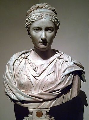 Bust (sculpture) - Image: Busto de Vibia Sabina (M. Prado) 01