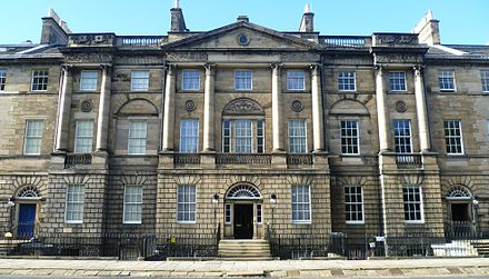 Bute House at 6 Charlotte Square is the official residence of the First Minister of Scotland. Bute House, Charlotte Square Edinburgh.JPG