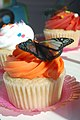 Butterfly on cupcake at the 2009 Yelp Cupcake Crawl.jpg