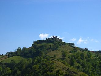 Bužim - Image: Buzim Castle seen from Buzim, Bosnia Herzegovina